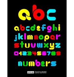 Colorful Decorative Alphabet vector image vector image