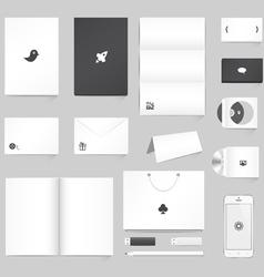 Corporate Identity Mockup vector image