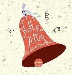 Holly jolly card vector