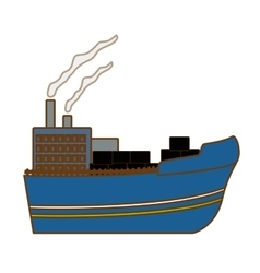 Industrial ship icon image vector