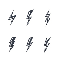 lightning silhouettes vector image