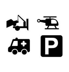 parking icons vector image vector image