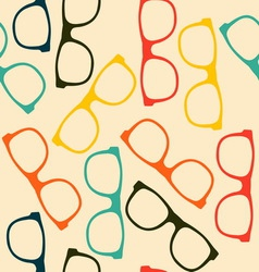 Seamless pattern with glasses in flat style vector image