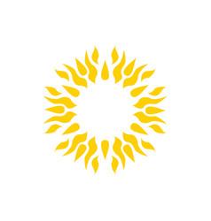 sun icon mandala tattoo vector image