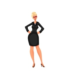 Business woman in superhero mask vector image
