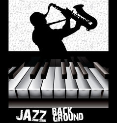 Jazz background vector image vector image