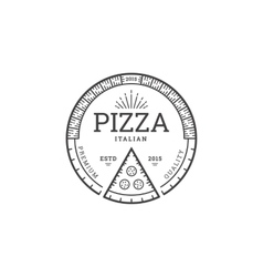 Pizza logo template vector image vector image