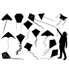 Set of different kites vector image