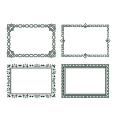 vintage frames collection grey borders isolated vector image vector image
