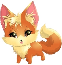 beautiful fox on a white background vector image
