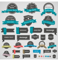 Collection of vintage labels and ribbons vector image vector image