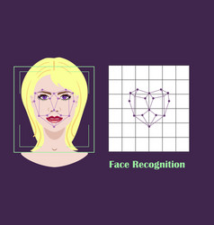 face recognition - biometric security system vector image vector image