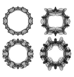 guilloche secure elements abstract circle frame vector image vector image
