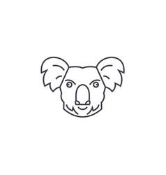 koala head line icon sign on vector image vector image