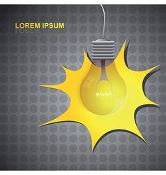 Lightbulb background vector image