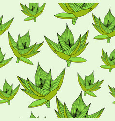 seamless floral pattern background with vector image vector image