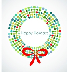 Abstract Christmas wreath vector image