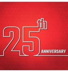 anniversary outline BG vector image