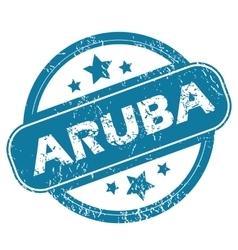 ARUBA round stamp vector image