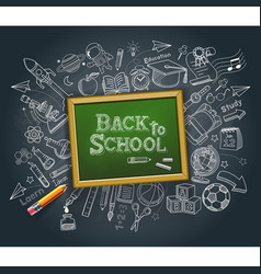 Back to school education concept doodle style vector