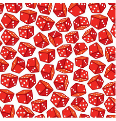 Background pattern with red dices vector