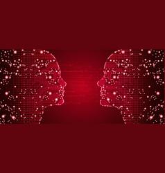 Big data in online dating vector