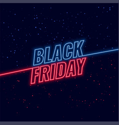 black friday blue and red neon background vector image
