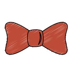Bown ribbon decorative icon vector