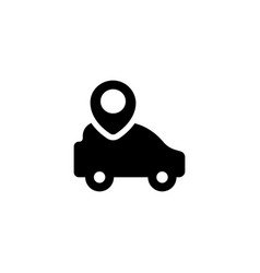 car gps icon vector image