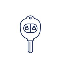 car key with alarm line icon vector image