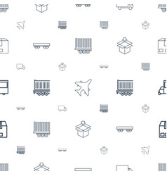 Cargo icons pattern seamless white background vector