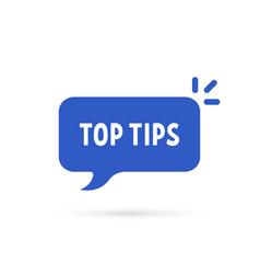 Cartoon speech bubble like top tips vector