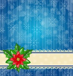 Christmas wallpaper with flower poinsettia vector