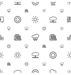 Climate icons pattern seamless white background vector