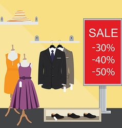 Clothes store vector