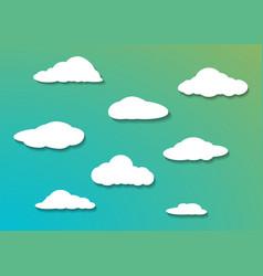 cloud icon set gradient shadow vector image
