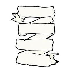 Comic cartoon heraldic scroll banner vector