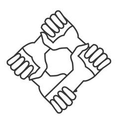 Community hands icon vector