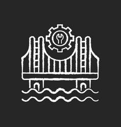 construction chalk white icon on black background vector image