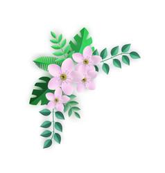 Corner floral composition vector