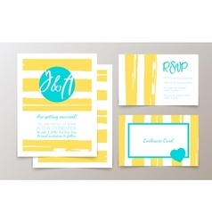 Cute fashionable cards and invitations vector