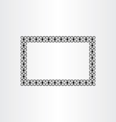 decorative frame background black border vector image