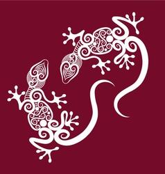 Decorative geckos vector image
