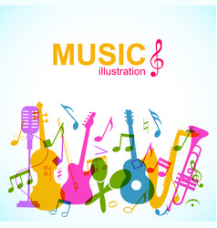 Decorative musical abstract background vector