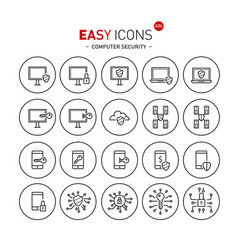 Easy icons 43b computer security vector