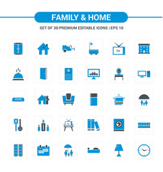 family and home icons vector image