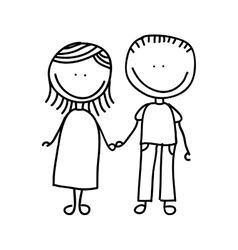 father and mother drawing isolated icon design vector image