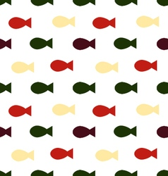 fish seamless patternskeleton of fish vector image