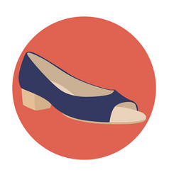 Flat-icon-shoes-open-toe vector
