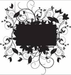 floral black vector image